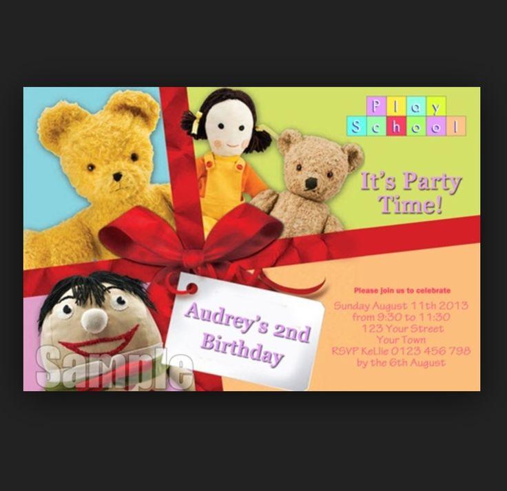 Playschool invitations- google image search