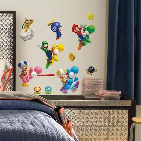 Super Mario Wii Peel & Stick Wall Decals for sale at Walmart Canada. Buy…