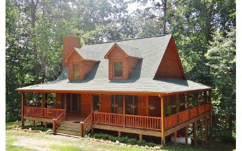 2 story log cabin for 2 story cabin