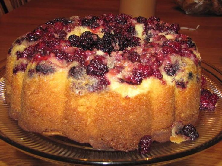 As I was searching for a new and delicious blackberry recipe, I just wasn't satisfied with those that I found. So, instead I took ideas from here and there and made my own. It was a huge hit with my husband who loves blackberries! This certainly isn't a calorie friendly cake, but it is so worth the calories. Enjoy!