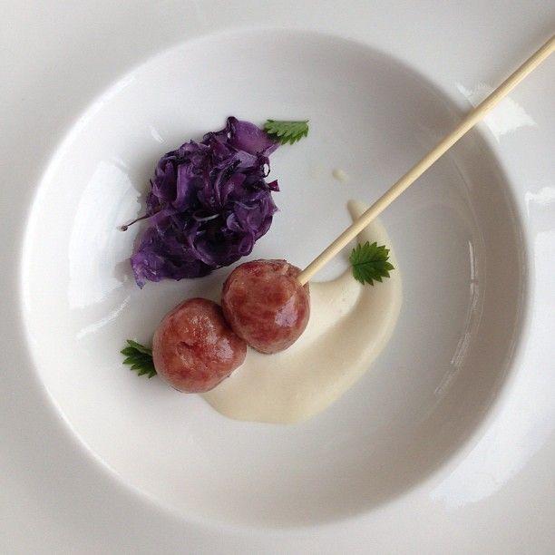Sfere di cotechino con verza e crema di parmigiano - Instagram by @Sara Querzola