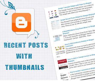 5 Type of Recent Post Widget Blogger Widgets/Gadgets