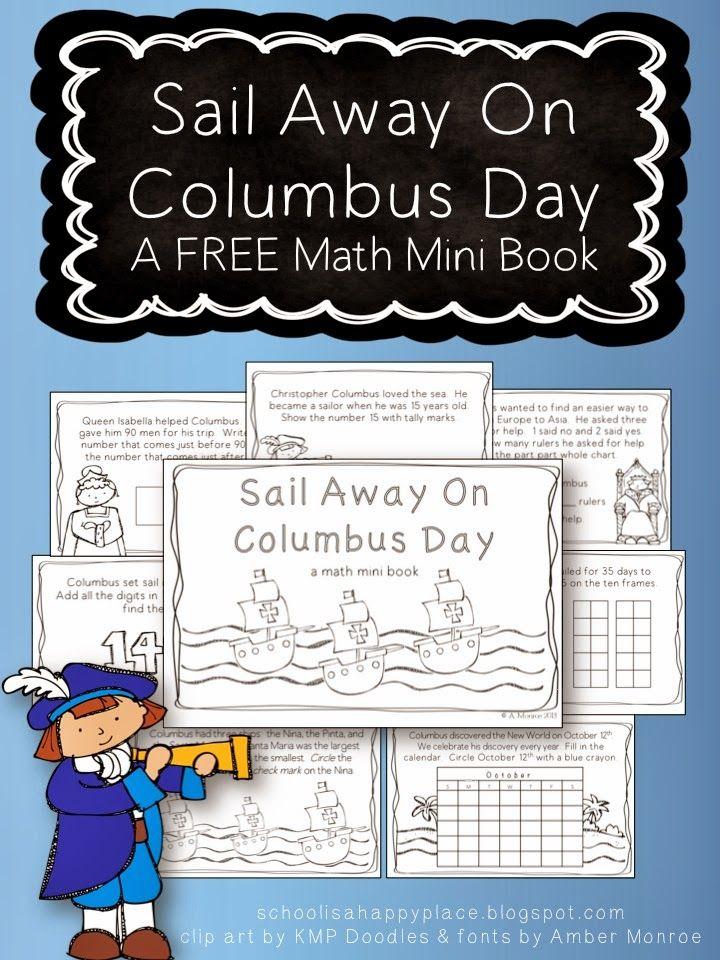 Sail Away On Columbus Day: A FREE Math Mini Book