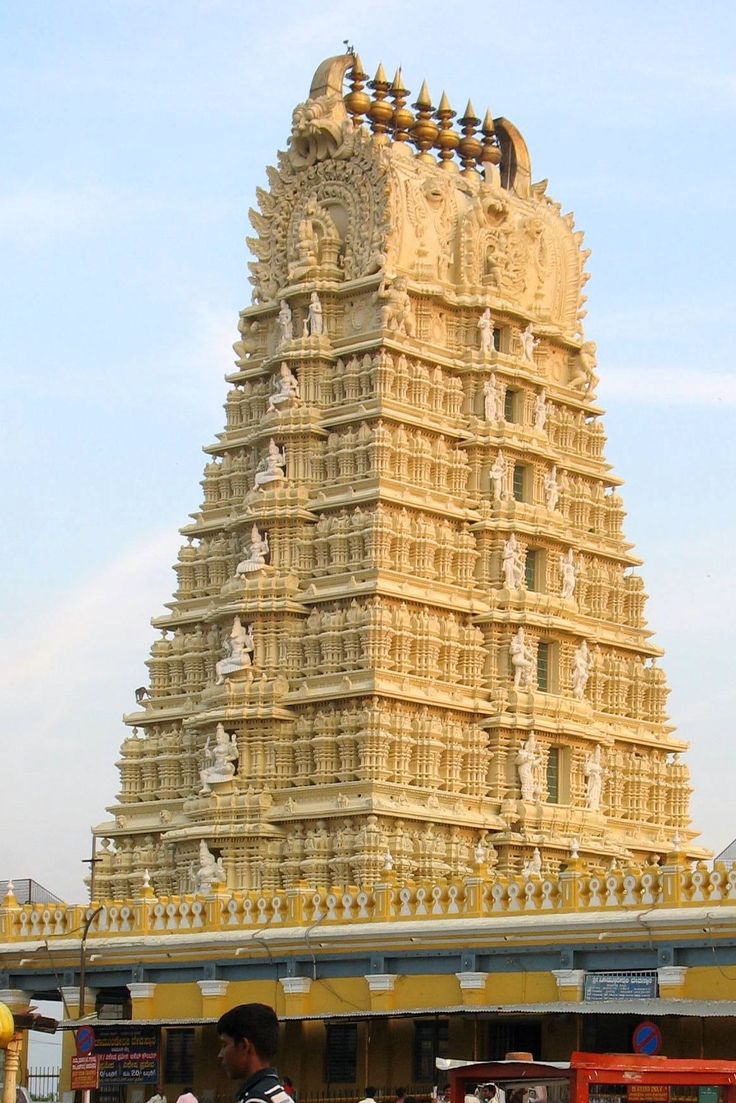 A Dravidian Temple in Ancient India in Bangalore