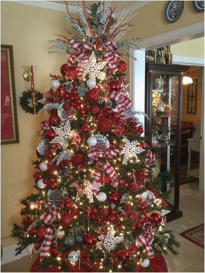 Lovely Christmas Tree Decoration Ideas Christmastree Diychristmastree In 2020 Creative Christmas Trees Ribbon On Christmas Tree Christmas Tree Decorations