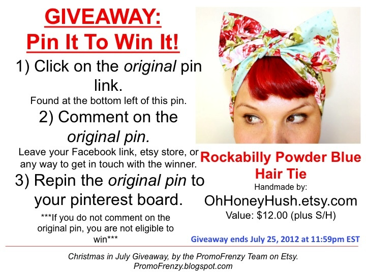 GIVEAWAY - Pin It To Win It: To Win This Item from OhHoneyHush.etsy.com - follow the instructions: Click on ORIGINAL pin, comment leaving a way to contact you, REPIN the ORIGINAL Pin! Contest ends 7/24/12 @ 11:59pm EST. Winner announced 7/25/12.: Awesome Giveaways, Byhandgiveaway, Awesome Finding, July Hair, Promofrenzi Awesome, Contest Giveaways, Hair Bows, Comment Leaves, Bows Giveaways