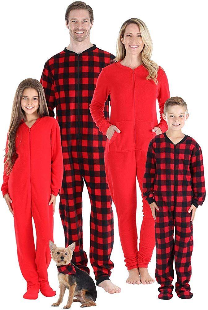 #followme Matching Buffalo Plaid Adult Onesie Kids Bodysuits Family Couples Dog