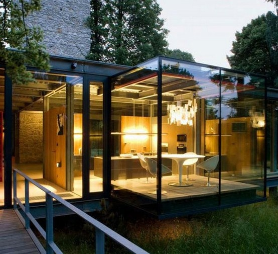 London Based Architects PCKO Designed The Jodlowa House In Krakow Poland In  Collaboration With MOFO Architects. The Glass House Is Located On The  Outskirts ...