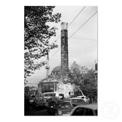 #Buy #purchase #digital #photography #photograph #photo #picture #image #print #1970s #1970 #download #file #antique #old #vintage #archive #historic #historical #hight #resolution #bw #black #white #stock #collection #licence #royalty #free #RF  Asia Turkey Istanbul Column Constantine $9.95