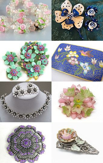 Flower Garden of Delight   by CAROLYN O'BAYLEY on Etsy--Pinned with TreasuryPin.com
