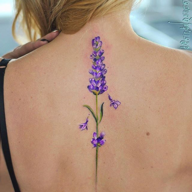 Aleksandra Katsan #lavender 💜💜💜 реализовали сегодня в режиме полного релакса, первая татуировка 💜 #tattoo #Tatt #lavenderlove #lavendertattoo #kievtattoo #ukrainetattoo #watercolortattoo #amazingink #tattedup #ink #inked #girltattoos #girlwithtattoos #colortattoo #botanicaltattoo #tattooedparadise #stoppartak #art #bodyart #lavenderfields
