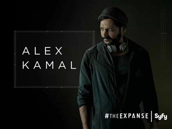 Gives us great capture moment Cas Anvar being Alex Kamal Martian Pilot Syfy The Expanse. Great adventures are coming.