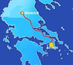 Meteora. Tesalia. Guía turística de Grecia.