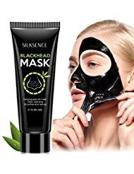 Silksence Blackhead Remover Mask Purifying Peel-off Mask with Activated Charcoal Deep Pore Cleanse for Acne