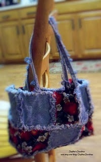 denim rag quilt purse. Maybe something for me?