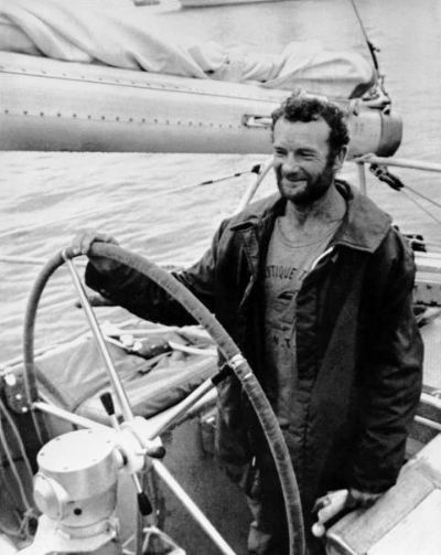 Eric Tabarly --arrivée de l'Ostar 1976
