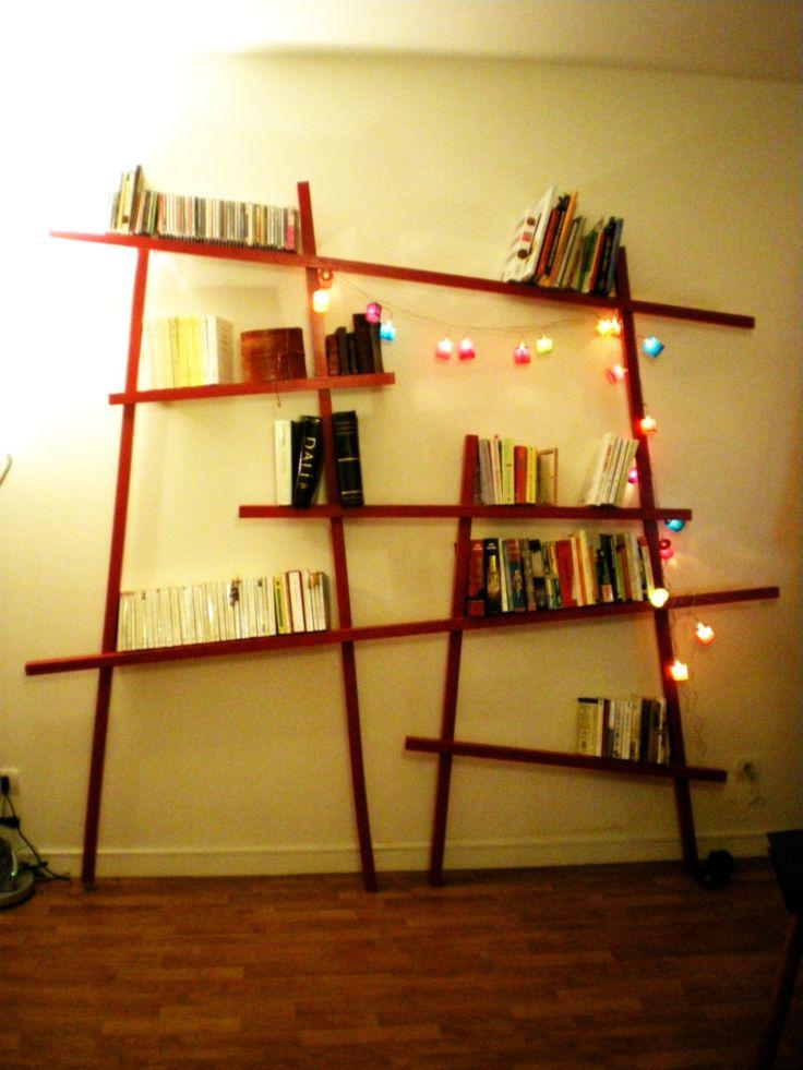 Bibliothèque design et…pas chère !