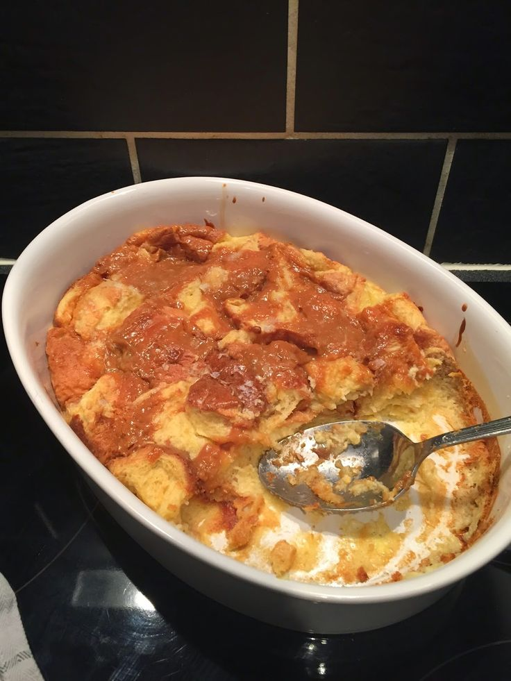 Salted Caramel Bread and Butter Pudding