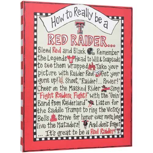 How to Really be a Red Raider Canvas! #TexasTech #CollegeColors