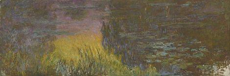 Claude Monet,  The Water Lilies - Setting Sun, 1920–1926 on ArtStack #claude-monet #art