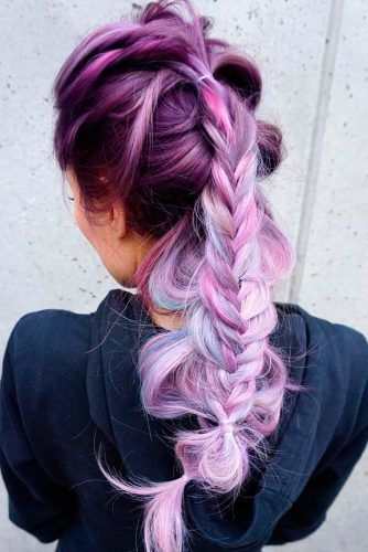 Braided Hairstyles for Your Purple Hair ★ See more: http://lovehairstyles.com/braided-hairstyles-purple-hair/