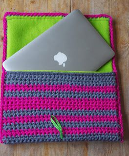 crochet laptop case - Google Search