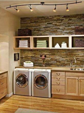 Laundry room ... Add island for grooming dogs with deep sink and a cover over the top and I'm all set!!