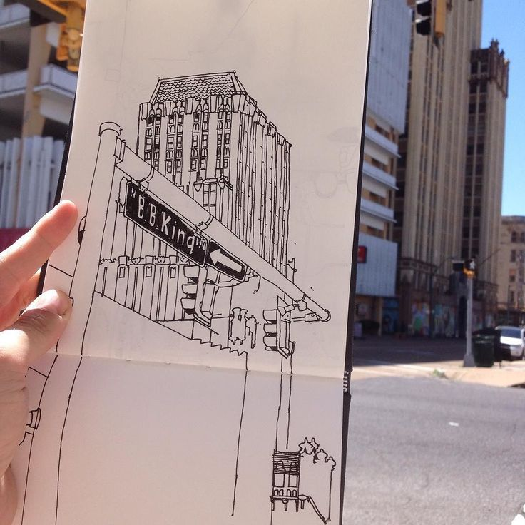 #urbansketch #urbanart #illustration #drawing #sketch #sketchbook #memphis #doodle #reportage #buildings #architecture #usa by lyndonhayes