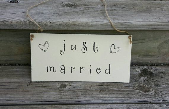 Freckles and Whiskers wedding Etsy shop https://www.etsy.com/listing/188262338/rustic-wedding-just-married-sign-wooden