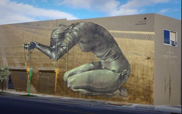 Artist @faith47 beautiful Street Art Wynwood in Miami