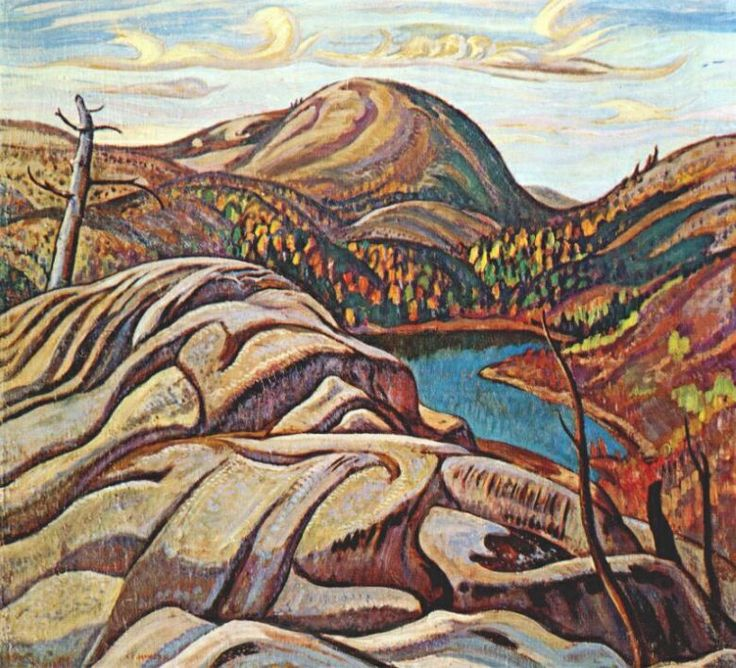JACKSON, A.Y. (1882-1974) Canadian artist ~ 'Nellie Lake' - 1933