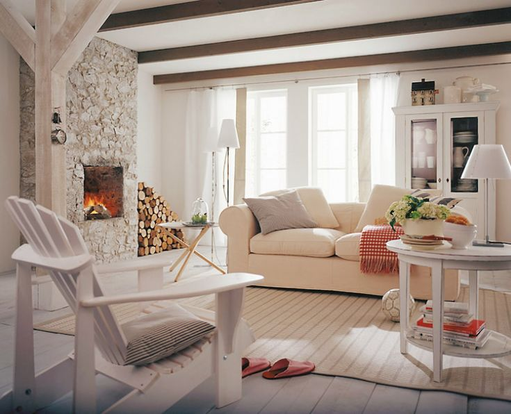 love the Andirondak chair inside - and the all white room