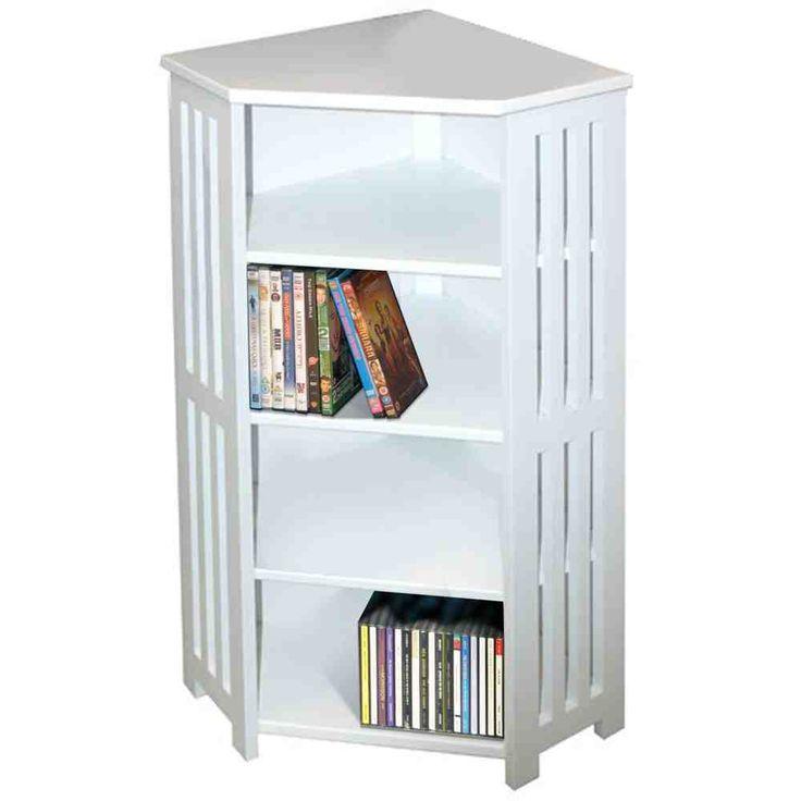 white dvd cabinet - Corner Storage Cabinet