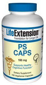 Cápsulas Life Extension fosfatidilserina Vegetarianos, 100 mg, 100 unidades