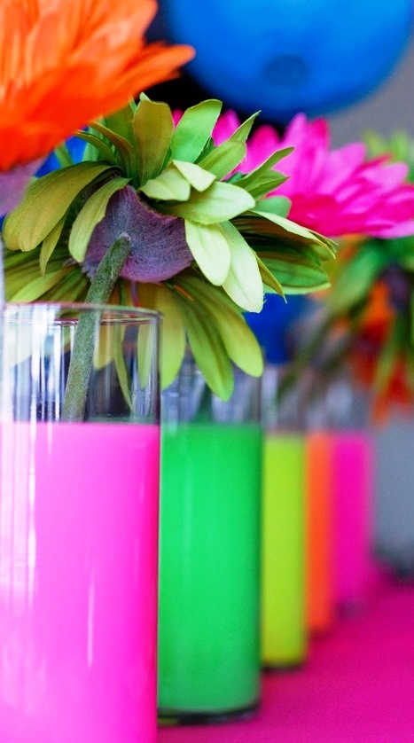 Rainbow color flowers (¯`'•.¸de l'arc-en-ciel¸.•'´¯)