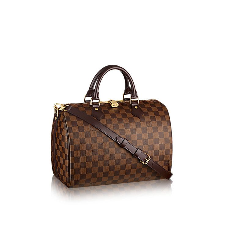 Speedy Bandouliere 30 Ladies Luxury Damier Ebène Canvas Handbag | LOUIS VUITTON