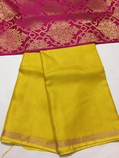 Pure kota silk saree with banarasi brocade blouse
