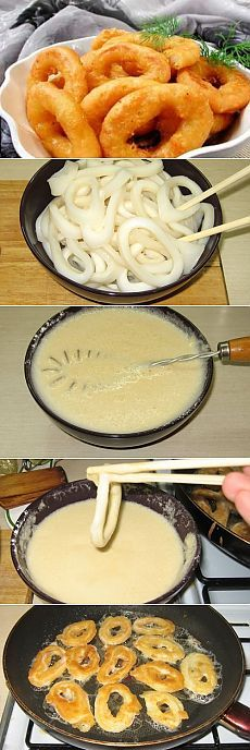 Кальмары в кляре / Блюда из кальмаров / TVCook: пошаговые рецепты с фото