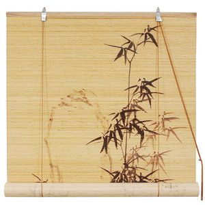 Oriental Furniture Bamboo Design Rayon Roller Blind