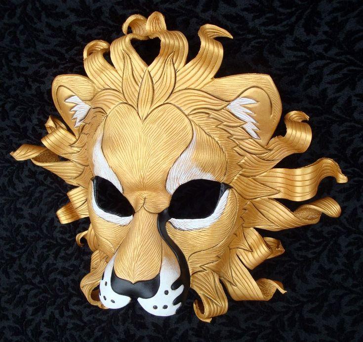 Gold Sun Lion Mask by *merimask