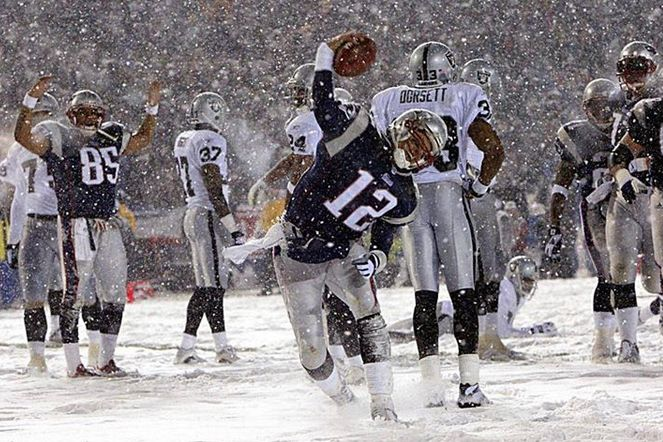 "Not a fan f either team, but this was a messed up call. Oakland Raiders fans likely still hold a grudge against Tom Brady and the New England Patriots after the ""Tuck Rule Game"" back in 2002... Wow surprising Brady is an ass!"