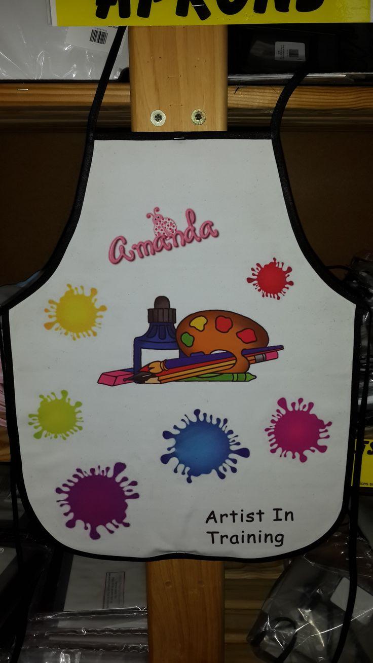 Design a fun art apron.