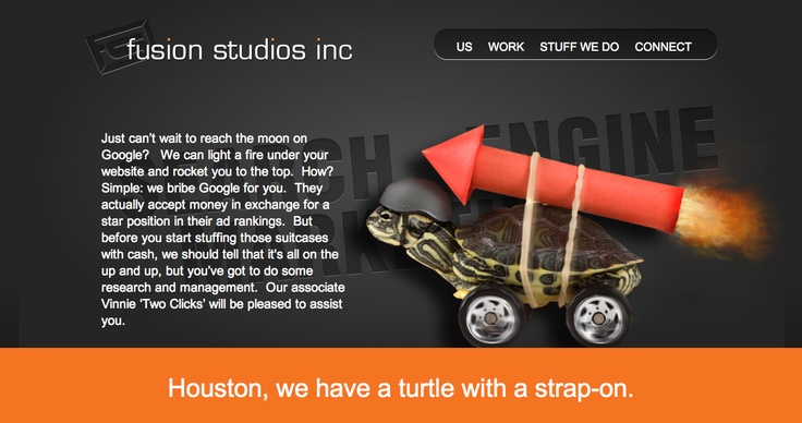 Search Engine Marketing page, Fusion Studios