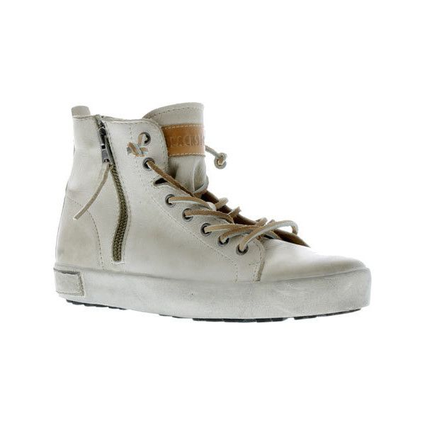 Women's Blackstone JL18 High Top Zipper Sneaker - Stone Full Grain... ($214) ❤ liked on Polyvore featuring shoes, sneakers, brown, casual, ornamented shoes, zip sneakers, brown high top shoes, high top zipper sneakers, zipper shoes and brown sneakers
