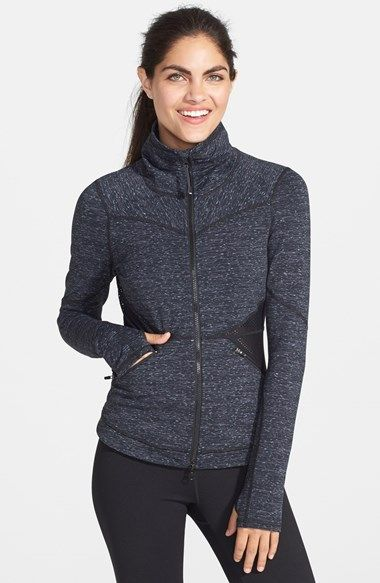 Free shipping and returns on Zella 'Femme - Space Dye Pop' Jacket at Nordstrom.com. Solid-hued mesh insets nip in the waist, lending flattering feminine definition and ventilated comfort to a sleek space-dyed jacket. A reflective back logo ensures you'll be noticed as you race on by.