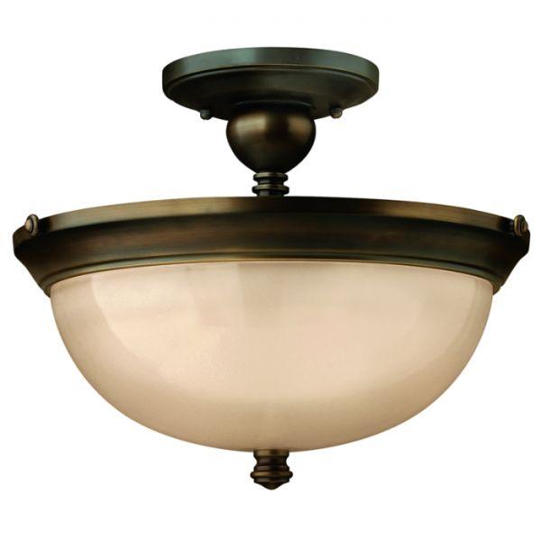Plafon LAMPA sufitowa HK/MAYFLOWER/SF Elstead FEISS metalowa OPRAWA ciemny brąz kremowy - MLAMP - 807 PLN