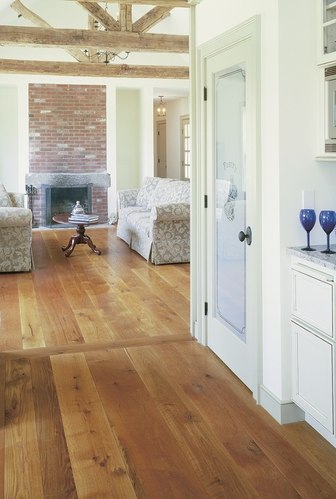White Oak is a hard, resilient wood with nutty brown hues and dramatic grain features that range from simple and sleek to intricate swirls. Once used to make wine barrels, the dense fibers of this popular wood make for a durable floor with a versatile look, depending on the effect you're trying to achieve. Casual, formal, or contemporary, White Oak is one of the most versatile oak wood floors that we can make so it can provide the perfect complement to any design scheme .