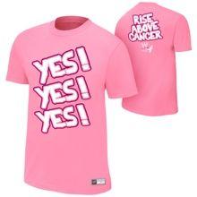 "Daniel Bryan ""Rise Above Cancer"" Pink Authentic T-Shirt- medium #WWE"
