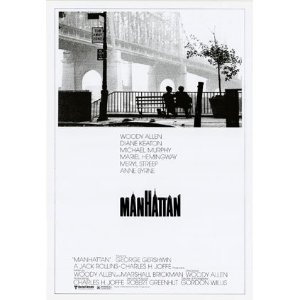 Manhatten US Promo Woody Allen Huge Vintage PAPER Movie Poster Measures 40 x 27 Inches (100 x 70 cm ) approx