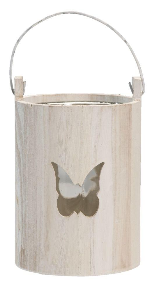 Theelichthouder Vlinder: sfeervolle houten waxinelichthouder #leenbakker #terrasideeen